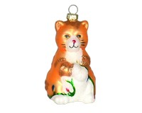 Big Kitty Orange Ornament COBANEC327