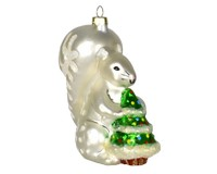 White Squirrel Brown Eyes Ornament-COBANEC349