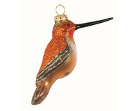 Rufous Hummingbird Ornament COBANEC417