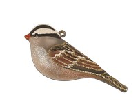 White Crowned Sparrow Ornament COBANEC423