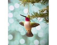 Male Ruby Throated Hummingbird Flying Ornament COBANEC448
