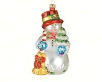 Tiny Tree Snowman Ornament COBANED212