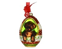 Playful Puppy Chocolate Lab Ornament COBANED287