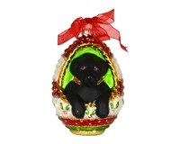 Playful Puppy Black Lab Ornament COBANED288