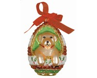 Playful Puppy Yellow Lab Ornament COBANED308