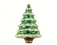 Snowy Pine Tree Green Ornament COBANED383