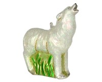 Howling Arctic Wolf Ornament COBANED394