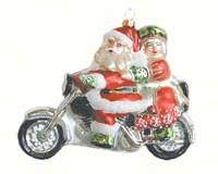 Motorcycle Santa Ornament COBANEE244