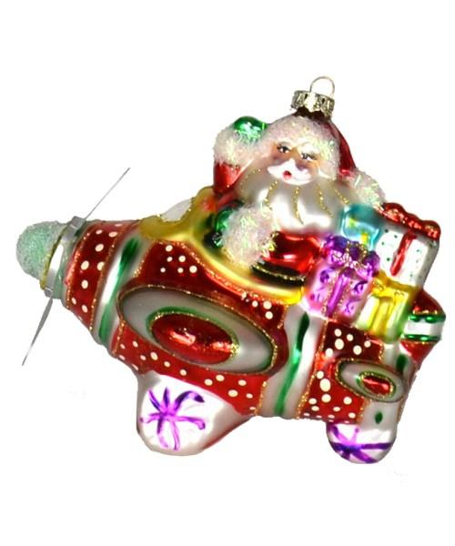Santa Airplane Ride Ornament (COBANEE353)