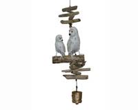 Snowy Owl Family Folk Art Finish Bell-CH576F