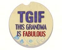 Grandma Fabulous Car Coaster-CART09817