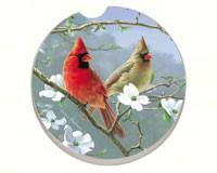 Beautiful Songbirds Cardinals Car Coaster-CART09871
