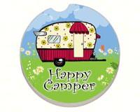 Happy Camper Car Coaster-CART09891