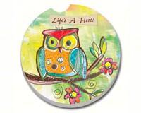 Life's a Hoot Car Coaster-CART10884