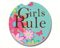 Girls Rule Car Coaster-CART11033