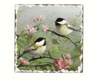 Chickadee Number 1 Single Tumbled Tile Coaster-CART11185