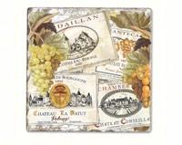 Wine Labels Single Tumbled Tile Coaster-CART11611