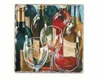 Wine Reflections Single Tumbled Tile Coaster-CART11613