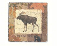 Moose Tracks Single Tumbled Tile Coaster-CART11617