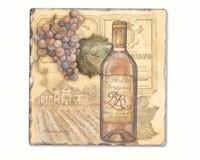 Vineyards Single Tumbled Tile Coaster-CART11690