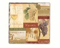 Wine Valley Single Tumbled Tile Coaster-CART11706