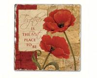 Together Single Tumbled Tile Coaster-CART11720