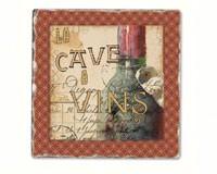 French Cellar Single Tumbled Tile Coaster-CART11782