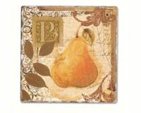 Tuscan Pear Single Tumbled Tile Coaster-CART11812