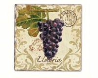 Vista Grapes Single Tumbled Tile Coaster-CART11893