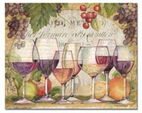 Wine Country Glass Cutting Board 12x15-CART23116