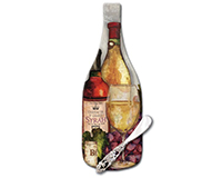 Wine Time Glass Cheese Server-CART29449