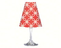 Wine Glass Shade Coral Quatrefoil-CART33376