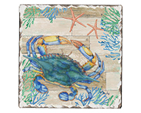 Crab Life Single Tumble Tile Coaster-CART67766
