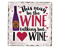 Wine Talking Single Tumble Tile Coaster-CART67863