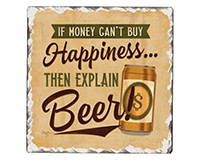 Explain Beer Single Tumble Tile Coaster-CART67911