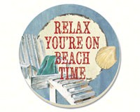 Beach Time Coasters Set of 4-CART87202