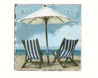 Sling Chairs Tumbled Tile Coasters Set of 4-CART88533