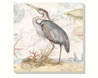 Shoreline - Blue Heron Coasters Set of 4-CART88705