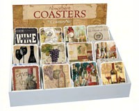 Wine Assortment withCounter Display (72 coasters)-CART91704
