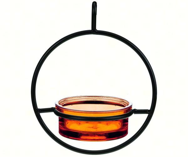 7.25 Inch Orange Sphere Hanger Feeder