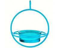 7.25 Inch Blue Hanging Sphere Feeder with Perch-COURM047200A