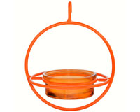 7.25 Inch Orange Hanging Sphere Feeder with Perch-COURM047200O