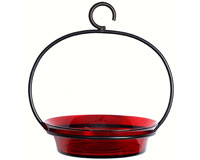 Red Cuban Bowl Bird Bath-COURM33720006