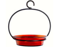 Orange Cuban Bowl Bird Bath-COURM33720008