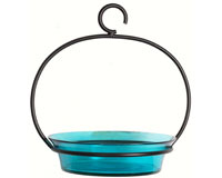 Aqua Cuban Bowl Bird Bath-COURM33720009