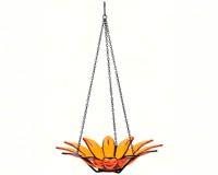 12 inch Daisy Bird Bath Orange-COURM34920008