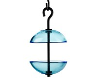 8.5 Inch Aqua Double Hanging Poppy Feeder-COURM38520009
