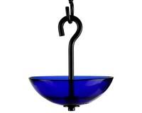 4.75 Inch Cobalt Blue Single Hanging Poppy Feeder-COURM38620015