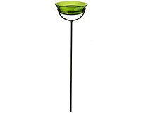 7 Inches x 37 Inches Lime Cuban Garden Stake Bath or Feeder-COURM42920001