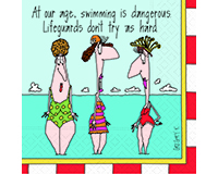 Swimming is Dangerous Cocktail Napkins-DESIGN62400919